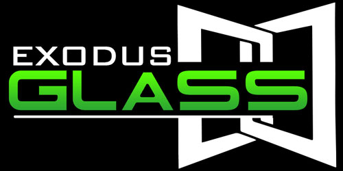 exodus glass logo green